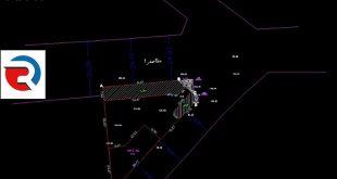 نقشه utm با کد ارتفاعی شهرداری در منطقه 22 تهران