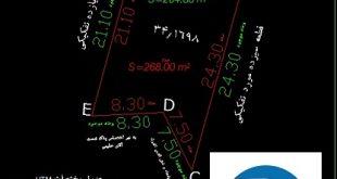 تهیه نقشه utm دوخطی ثبت و شهرداری در مناطق تهران